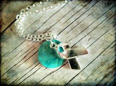 Polycystic ovary syndrome and becoming pregnant help and advice.  http://pcos-and-pregnancy.com/ PCOS Teal Awareness Necklace 046
