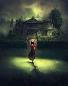 scary beauty girl creepy child horror alone black mansion night dark haunted darkness goth ghost Woods gothic disturbing Creepy Kids, Scary, Creepy Stuff, Claude Monet, Illustrations, Illustration Art, Photoshop, Gothic Art, Gothic Images