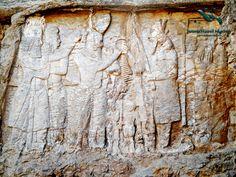 Sasanian Empire - Ardeshir Babakan and Ahuramazda at Naqsh Rajab, Iran
