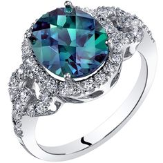 Step Design Princess Cut 3.25 cts Alexandrite Ring Sterling Silver Sizes 5 to 9