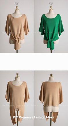 Diy women's fashion ideas anyone can do blusas camisas, blusas de moda, Urban Fashion, Diy Fashion, Fashion Outfits, Fashion Ideas, Fashion Night, Cheap Fashion, Fashion Trends, Blouse Styles, Blouse Designs