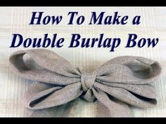 The secret to making an even and straight burlap bow for wedding decorations (chair sash, pew decor, on centerpieces, etc). Find written, step by step instructions and more at http://www.MyOnlineWeddingHelp.com/burlap