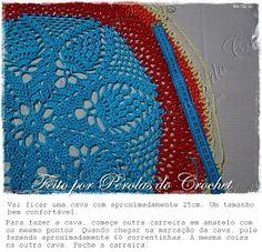 Maxi Colete em crochet com PAP.Patrocínio Coats Corrente Esse mês o Pérolas do Crochet comemora 5anos.Mas o presente é todo seu!Bons Crochets! Para fazer esse colete maravilhoso você vai precisar:1 n