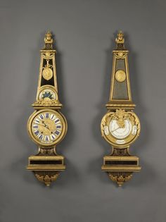 A Rare and Exceptional Antique Louis XIV Style Gilt-Bronze Mounted Tortoiseshell Clock and Barometer Set, in the manner of André-Charles Boulle.  French, Circa 1840.