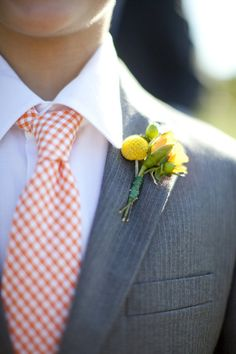 Men's Tie Orange Gingham Necktie for Children or by MeandMatilda, $22.95