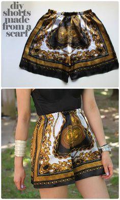 DIY Scarf into Shorts: 50+ DIY Shorts to Enjoy Your Summer Fashionably – How to DIY Shorts
