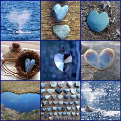 Blue hearts mosaic.