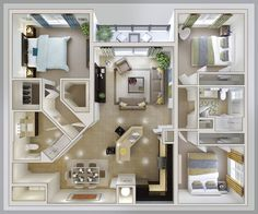 bedroom layout ideas, small 3 bedroom house plan Home Properti pas trop pire pour un 3 c c