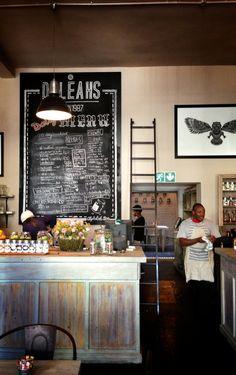 Scenes from a coffee shop.  Daleah's. Braamfontein