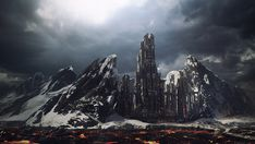 Final Image - Create a Mountain Fortress Using Matte Painting Techniques in Photoshop - Tuts+ Premium Tutorial