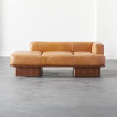 Serafin Leather Daybed + Reviews | CB2 Cognac Leather Sofa, Leather Daybed, Cowhide Leather, Leather Sofas, Leather Chairs, Modern Sofa, Living Room Modern, Mid-century Modern, Organic Modern