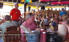 Find YOUR Cheeseburger in Paradise at Lucy Buffett's LuLu's at Homeport restaurant in #GulfShores, Alabama