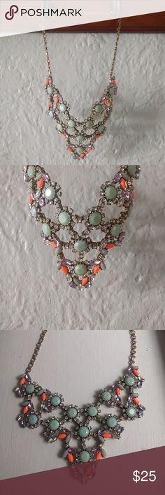 J.Crew bib necklace J.Crew bib necklace. Excellent condition with no missing stones or pieces. J. Crew Jewelry Necklaces