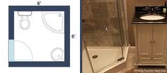 7 Awesome Layouts That Will Make Your Small Bathroom More Usable – My Web Value Small Bathroom Layout, Bathroom Colors, Bathroom Sets, Bathroom Faucets, Bathroom Trends, Bathroom Designs, Bathroom Showers, Layout Design, Bathroom Remodel Cost