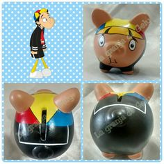 Quico Piggy Bank, Crafts, Teacup Pigs, Safe Room, Pillows, Ideas Party, Made By Hands, Craft, Pig Crafts