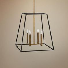 "Hinkley Fulton 22"" Wide Bronze Entry Pendant -"