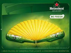 HEINEKEN - Be Fresh Beer Packaging, Packaging Design, Clever Advertising, Food Clipart, Beer Poster, Clip Art, Guinness, Paris France, Manual