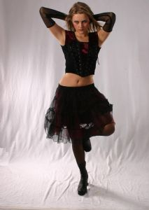 Gothic Fairy Mini Skirt. Lace Tiered Mini Skirt available in 4 colours.  By Bares/Fashion X~93-1395