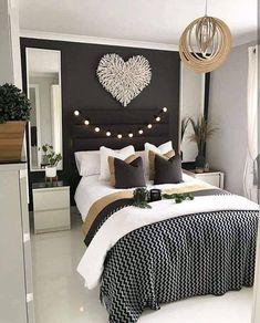 Stunning classy master bedroom design and decor ideas Simple Bedroom Design, Simple Bedroom Decor, Small Bedroom Designs, Home Design Decor, Master Bedroom Design, Home Decor Bedroom, Bedroom Ideas, Bedroom Red, Bedroom 2018