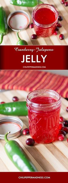 Low Cost Flowers Shipping And Delivery - An Anniversary Reward Without A Significant Selling Price Tag Cranberry-Jalapeno Jelly. This Cranberry Jelly Recipe Will Spice Up Your Holiday Meals With The Addition Of Jalapeno Peppers. Cranberry Jelly Recipes, Jalapeno Jelly Recipes, Pepper Jelly Recipes, Cranberry Syrup Recipe, Jalapeno Pepper Jelly, Cranberry Jam, Salsa Dulce, Holiday Recipes, Sauces