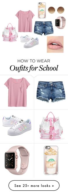 """""""🐽🐩🎶👛👠💄💋💅"""" by bianca-salazar97 on Polyvore featuring H&M, adidas Originals, Casetify and Victoria Beckham"""