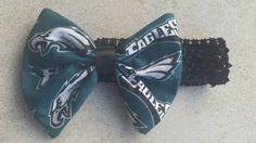 Simple eagles inspired crochet headband by SugarAndSpiceBowShop