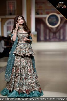 sajal aly in bridle couture week Desi Wedding Dresses, Pakistani Wedding Outfits, Pakistani Dresses Casual, Indian Fashion Dresses, Indian Bridal Outfits, Indian Gowns Dresses, Pakistani Bridal Dresses, Pakistani Dress Design, Indian Designer Outfits