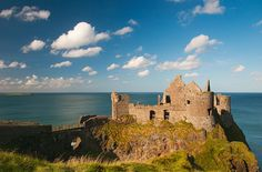 Dunluce Castle on the North Antrim Coast. *I normally post castles on my Fairytales board, so if you want more, you should take a peek there! Ireland Vacation, Ireland Travel, Beautiful Islands, Beautiful Places, Travel Careers, Castles In Ireland, Famous Castles, England And Scotland, Filming Locations
