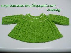 casaco bebe croche e trico duas cores - Pesquisa Google