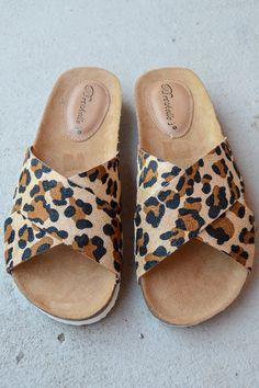 On the Prowl Leopard Sandals on shopBelleBoutique.com #xoxoBelle