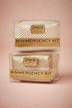 Minimergency® Kit for Brides & Bridesmaids. What every bride and bridesmaid NEEDS! Based on personal experience, I'm so SO glad I had my own little mini emergency kit on hand on my big day. #lifesaver