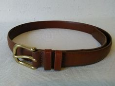 Cognac 44//110 Club Room Mens Leather Contrast Trim Dress Belt