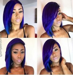 ***Try Hair Trigger Growth Elixir*** ========================= {Grow Lust Worthy Hair FASTER Naturally with Hair Trigger} ========================= Go To: www.HairTriggerr.com ========================= Cute Royal Blue Bob!