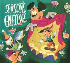 50s Disney Xmas Cards
