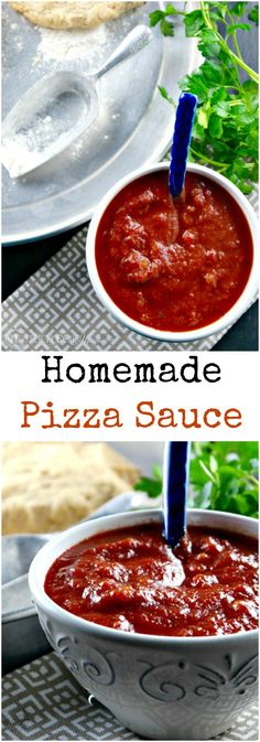 This easy homemade Pizza Sauce Recipe is easy to make and can be used as a dipping sauce for breadsticks too! #PizzaSauce #SugarFree #Italian
