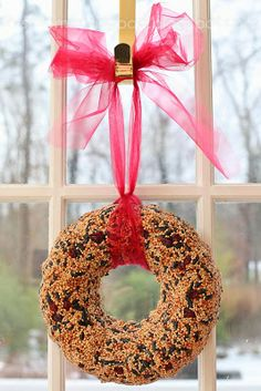 BIRD SEED WREATHS THAT STAY TOGETHER!
