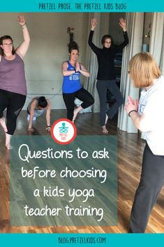 Want to teach kids yoga, but don't know where to start? These questions will help you decide what's for you when choosing a kids yoga teacher training! Yoga For Kids, Exercise For Kids, Kid Yoga, Teacher Certification, Fitness Certification, Teaching Culture, Kids Questions, Childrens Yoga, Yoga Courses