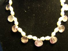Amethyst and Pearls Necklace by BJDevine on Etsy