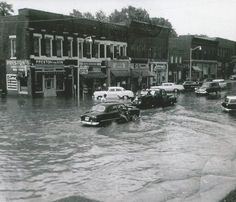 July 1958 flooding in Downtown Grand Ledge (Grand Ledge Community FB) http://on.fb.me/1JAfNfr