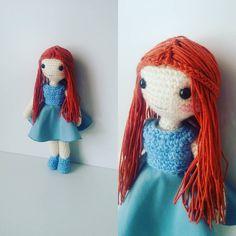 """56 Beğenme, 2 Yorum - Instagram'da amigurumi (@gurumiz): """"çok tatlı oldu kızıl kızım 😊 #amigurumi #crochet #örgü #bebek #örgübebek #diy #oyuncak…"""""""