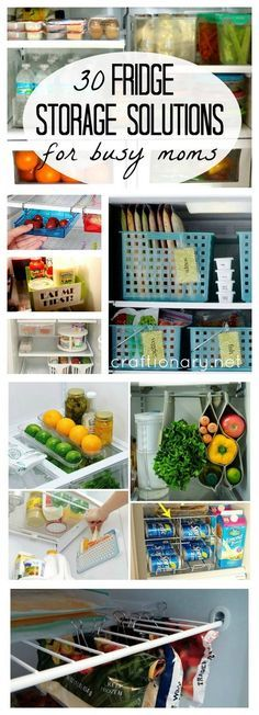 Fridge storage solutions and organization ideas with freezer and side compartment tips and tricks at craftionary.net