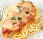 Easy Chicken Parmesan – this quick dinner recipe is totally foolproof. The chicken comes out moist every time! It's the BEST chicken parmesan recipe we've ever had and it's my husband's favorite. Oven Baked Bbq Chicken, Chicken Parmesan Recipes, Easy Chicken Recipes, Simple Recipes, Keto Chicken, Rotisserie Chicken, Healthy Chicken, Grilled Chicken Parmesan, Chicken Marinara