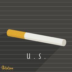 """Italo Svevo, Ultima Sigaretta – Grafica  19 dicembre 1861 – """"Ecco che ho registrata l'origine della sozza abitudine e (chissà?) forse ne sono già guarito. Perciò, per provare, accendo un'ultima sigaretta e forse la getterò via subito, disgustato.""""  La Coscienza di Zeno – Italo Svevo  Nasceva Aron Hector Schmitz più noto come Italo Svevo. Every Day – GELATINA DESIGN"""