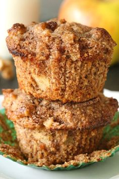 Grain–free and gluten–free apple muffins – you won't believe how moist, delicious and easy these are!