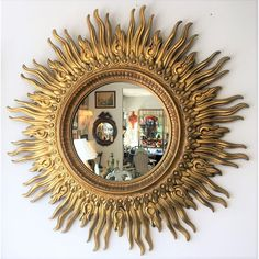 Red Lime And Gold Christmas Mantel Sunburst Mirror Diy