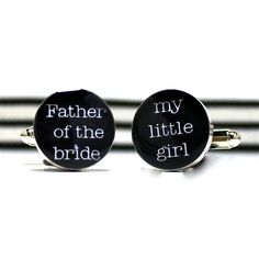 Black and White Wedding Boutique by DLK Designs : Father of the Bride and My Little Girl Personalized Cufflinks.