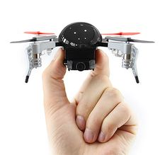 Micro Drone 3.0 - This hummingbird-size drone is small enough to take off & land in the palm of your hand and shoots 720 X 1280 HD footage at 30 FPS. It can also live-stream footage to your phone. | werd.com