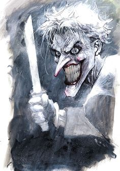 Jim Lee Joker - watercolour