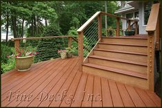 deck with steel cable | deck with cable composite decking with ipe railing and stainless steel ...