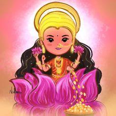 No photo description available. Durga Painting, India Painting, Madhubani Painting, Lakshmi Images, Radha Krishna Images, Krishna Art, Krishna Leela, Shiva Art, Saraswati Goddess